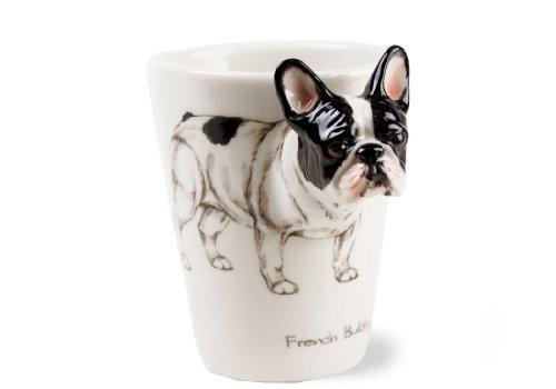 Un Regalo de Bulldog Francés, Taza de Café Hecho a Mano por Blue Witch