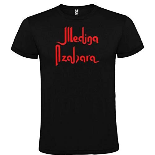 Camiseta Negra Medina AZAHARA Logo Rojo Hombre Tallas S M L XL XXL XXXL 100% ALGODÓN Mangas Cortas (XXL)