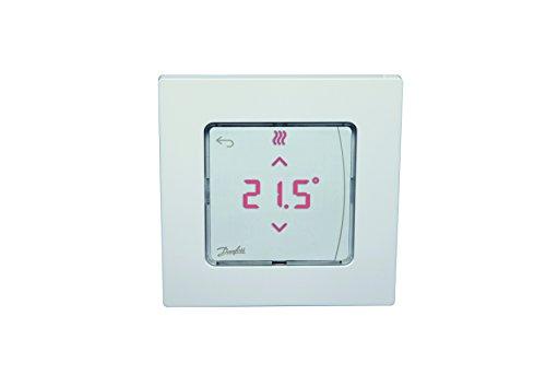 Danfoss 088U1010 Thermostat Display Icon encastrable Pour chauffage au sol hydraulique Raumtemperaturregler zum Einbauen, Weiß, x
