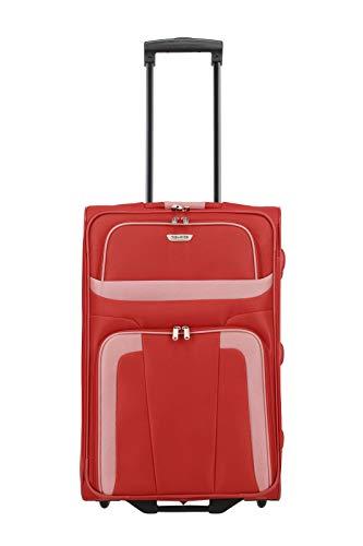 Travelite 2-Rad Koffer Größe M, Gepäck Serie ORLANDO: Klassischer Weichgepäck Trolley im zeitlosen Design, 098488-10, 63 cm, 58 Liter, rot