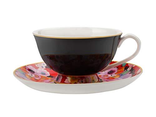 Maxwell Williams DX0174 Cashmere Bloems - Tazza da tè e piattino, in porcellana fine