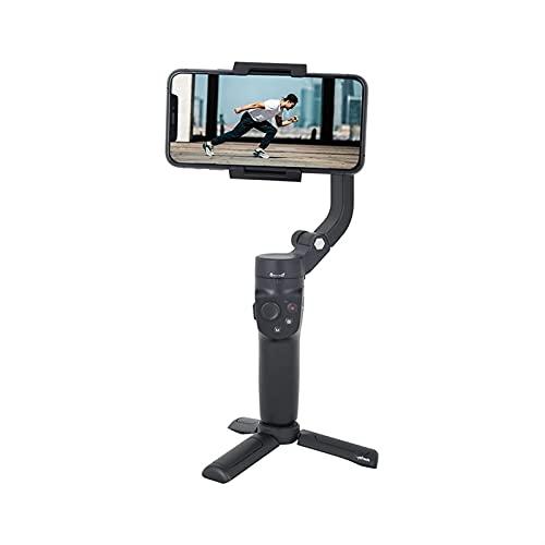WGLL Smartphone de Mano estabilizador de Gimbal, trípode, estabilizador de Gimbal Ideal para vlogging, Youtube, Video en Vivo, estabilizador de teléfono Compatible con iPhone y Android