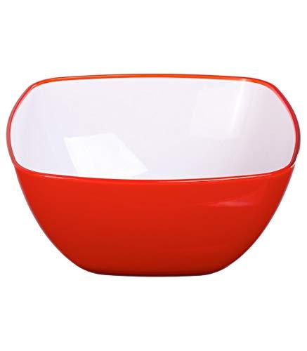 Secret de Gourmet - Saladier square rouge 19cm