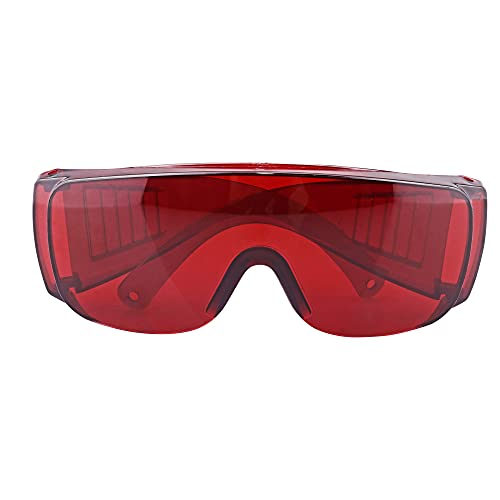 Red Goggle Glasses Lab Safety Dental Protective Eye Curing Light Whitening