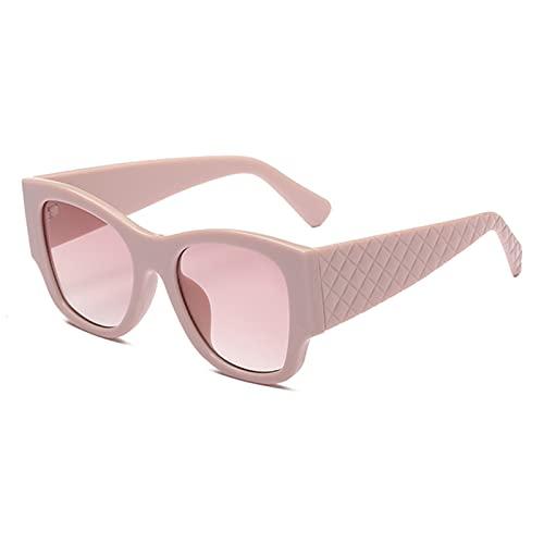 LQG Nuevo diseño de la Marca de la Marca Gafas de Sol Ojo de Gato 2021 Compras Conducción de Auto-Disparo UV400 Gafas de Sol para Mujer,Rosado