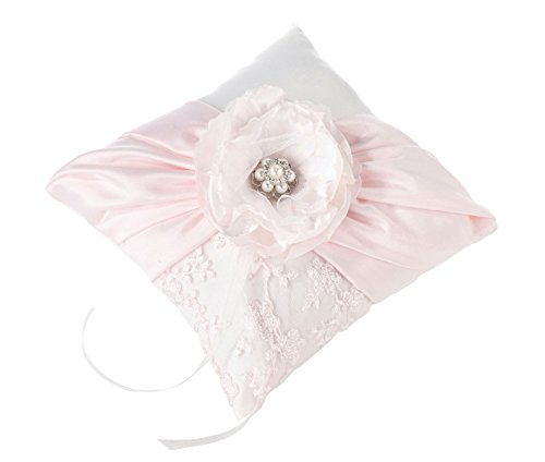 Lillian Rose Vintage Chic Blush Pink Wedding Ring Pillow