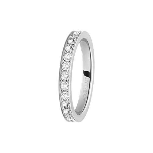 Morellato Anello da donna, Collezione Love Rings, in acciaio e cristalli - SNA41014