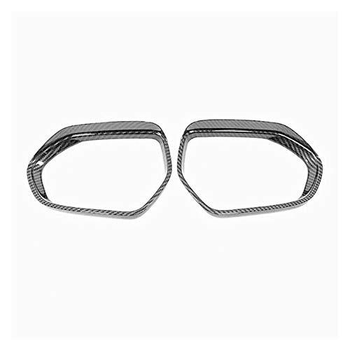 FangFang Lado De Fibra De Carbono Espejo De Espejo Cubierta De Cejas Trim Pegatinas De Automóvil Accesorios Ajustos para Toyota Camry 2018-2020 (Color : Black)