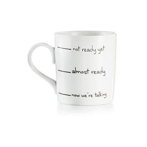 Donkey Products Grumy Mug Kaffeebecher, Becher, Tasse, Porzellan, Weiß, 250 ml, 210311