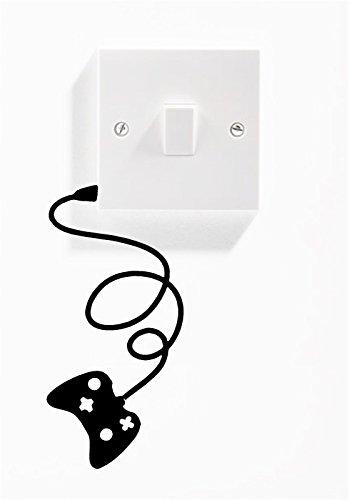 1x Gamepad Interruptor de la luz de pared pegatinas de vinilo de adhesivo para Xbox PlayStation/Nintendo 6cm x 13cm uksellingsuppliers
