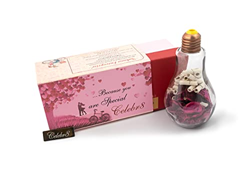 Celebr8 Message in a Bottle 52 Reasons Why I Love You Gift with Reasons Which is Ideal for Valentine Day, Husband/Wife/Girlfriend/Boyfriend Birthday and Marriage Anniversary Gift for Men and Women