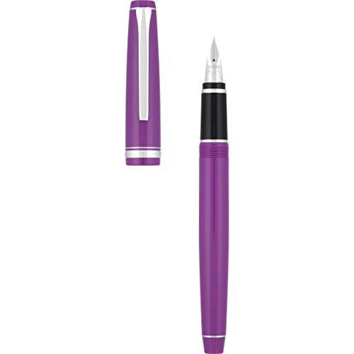 Price comparison product image PILOT Falcon Collection Fountain Pen,  Blue Ink,  Fine Nib,  Purple Barrel (15667)