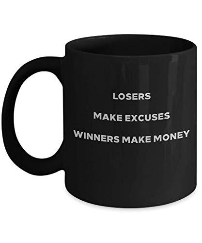Loser Make Excuses Coffee Mug. Winners Make Money Cup, Coffee, Motivation, Motivational, Inspirational Quote, Motivational Quote, Motivational Mug, Mu SSGE5R