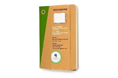 Moleskine SKQP412EVER - Pack de 2 diarios cuadriculados Evernote (Moleskine Evernote)