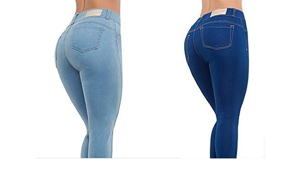 Seven Eleven 1 Pieza Jeans Colombianos Push Up Cintura Media Levanta Pompas Con Tela Strech Que Moldea Tu Figura Y Brinda Comodidad Pitufo 5 Amazon Com Mx Ropa Zapatos Y Accesorios
