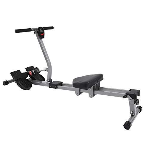 Máquina de Remo, Máquina de Remo con Pantalla para Fitness y Ejercicios de Musculación, Ajuste de Resistencia y Altura