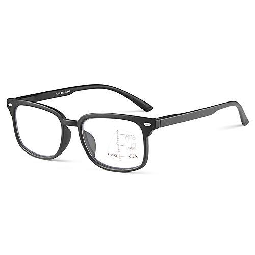 CXNEYE Gafas De Lectura Multifoco Progresivas De Alta Definición Gafas con Bloqueo De Luz Azul Gafas para Juegos De Computadora + 1.0 A +3.0