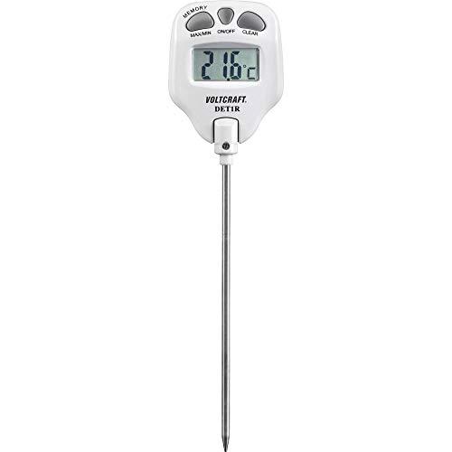VOLTCRAFT DET1R Einstichthermometer Messbereich Temperatur -10 bis 200 °C Fühler-Typ K