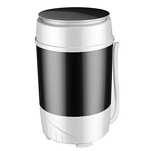 XUEXIUJIE Mini lavadora lavadora compacta portátil con deshidratador 6 kg de capacidad lavadora para acampar hogar dormitorio apartamento casa de alquiler/Negro / 360×360×600mm