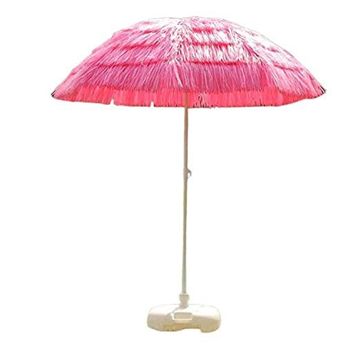 WSDSX Sombrillas Jardin,Paraguas de Patio de 6 pies, inclinación de 45 °, sombrilla de Playa con Techo de Paja Hawaiano, sombrilla Estable para Exteriores, para Piscina, pequeño, bistró, jardín, c