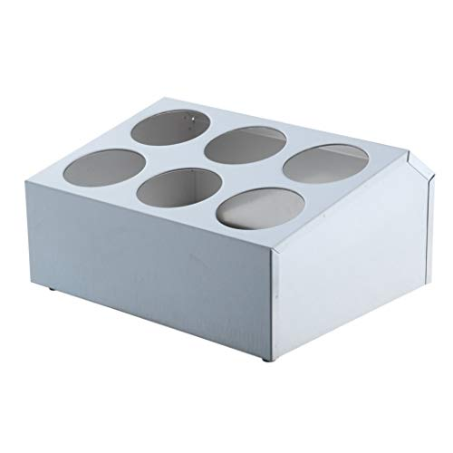 Winco 6 Hole Flatware Cylinder Holder, 2-Tier