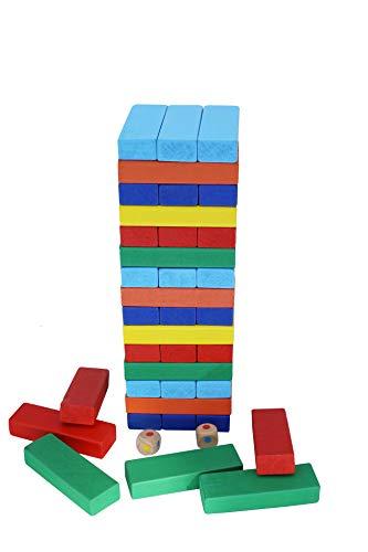 KanCai Spiele Tumble Tower Klassische Bausteine Stapelspiele für Kinder Familienspaß Spiele Kinderspiel 51 Teile