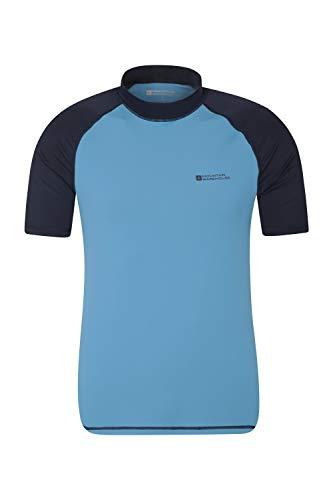 Mountain Warehouse UV-Badeshirt für Herren - Schwimmshirt mit UPF50+, schnelltrocknend, Flache Nähte UV Shirt - Ideal für Schwimmen und Tragen unter einem Schwimmanzug Dunkelblau XL