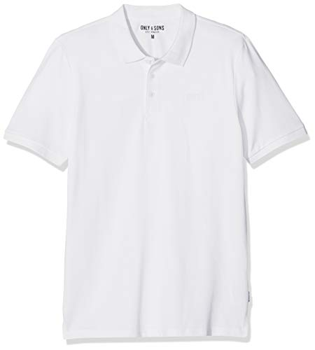 Only & Sons onsSCOTT Pique Polo Noos, Color Blanco, M para Hombre