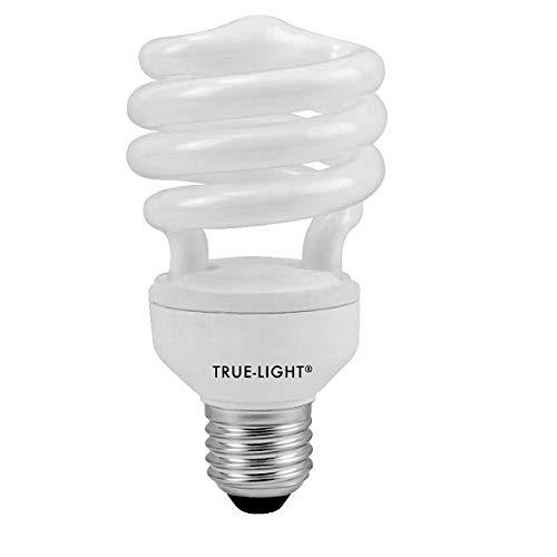 True Light Leuchtmittel, 20 W, Original-Tageslichtlampe, 5500 K, Vollspektrum, IRC96, 15.000 h