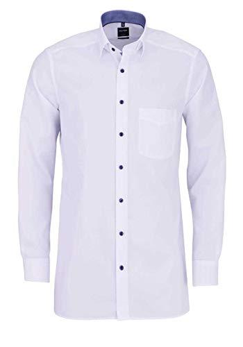 OLYMP Luxor modern fit Hemd Langarm Under Button Down Kragen weiß Größe 41