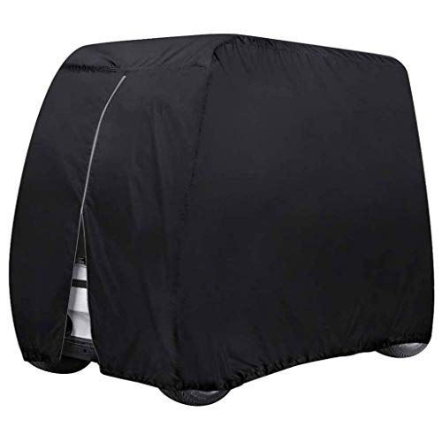 SHUI Universal Cubierta Funda para Buggy Carro De Golf Almacenamiento para Carrito De Golf Se Adapta Al Carrito De 2/4 Pasajeros De Yamaha Drive, EZ Go Y Club Car-M: 275 * 122 * 168cm-Negro