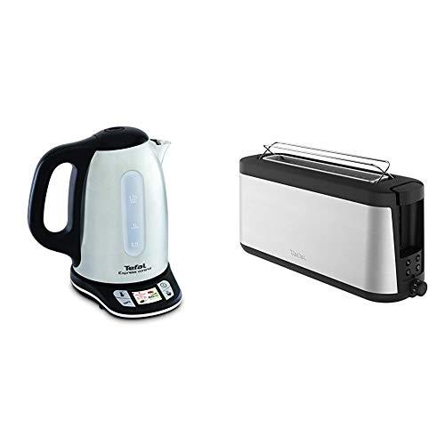 Tefal KI240D10 / KI240D Wasserkocher, Edelstahl, 1.7 liters, Metallic & Element Langschlitz-Toaster TL4308 | 7...