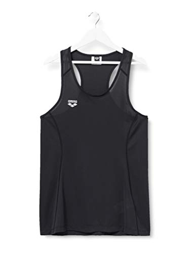 ARENA CF Cool - Camiseta de Tirantes para Mujer, Mujer, Camiseta sin Mangas, 003498, Color Negro, Medium