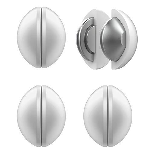 Duschvorhang-Gewichte, magnetisch, mit Silikon umwickelt, strapazierfähig, Premium-Duschvorhang-Clips, zusätzliches Gewicht, 4 Stück (weiß)