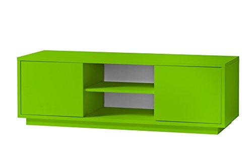 K-Möbel TV Schrank Grün Dekor Lowboard Fernsehschrank 2 Fächer 2 Türen