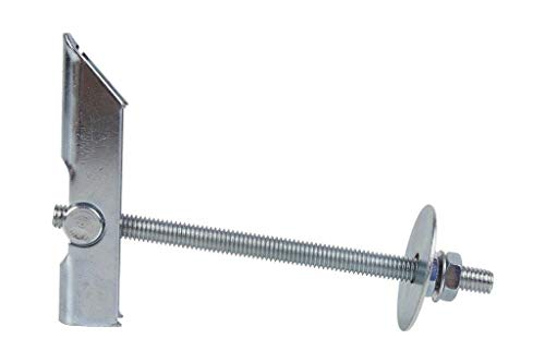 DOJA Industrial | Taco Basculante M6 | PACK 4 | Anclaje de Vuelco para fijación de elementos en pared hueca o techo | Tacos de Vuelco de Balancín para fijar ventiladores de pared, entre otros usos.