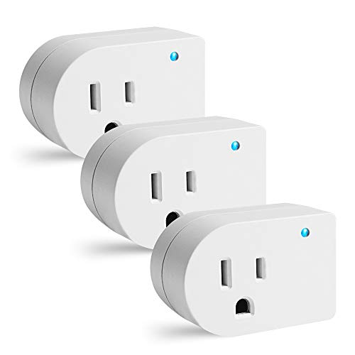 Single Surge Protector Plug, Grounded Outlet Wall Tap Adapter with Indicator Light, 1 Outlet,245J/125V, UL, White, 3Pack