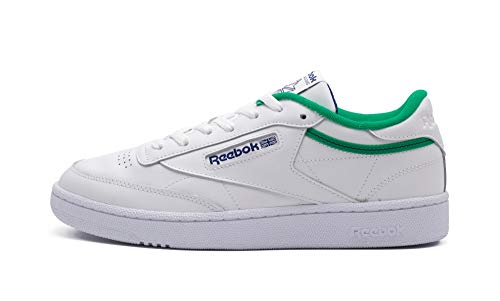 Reebok Club C 85, Zapatillas Hombre, White Court Green Deep Cobalt, 46 EU