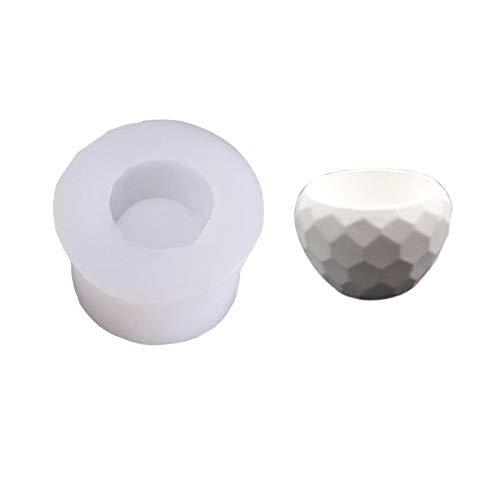 HONGTAI Soap-Form for Blumentopf Beton Zement Sukkulente Container Kerze Epoxy Gips Lehmform (Color : A)