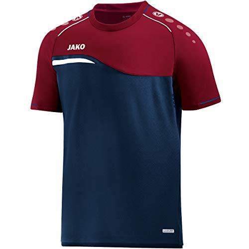 JAKO Herren T-Shirt Competition 2.0, marine/dunkelrot, L