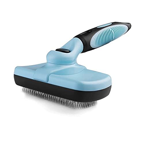 LIANGKU Glatte Bürste Entfernt sanft lose Unterzugspads, verhedderte Haustierhaare, Hundebedarf, Pflegebürste für Katzen, Hund unordentlich Haare Comber Schön und langlebig (Color : Blue)