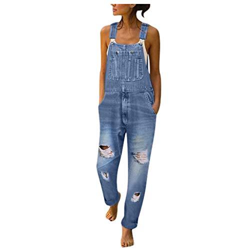 Damen Jeans Motorrad Cargohose Kurz Jeans Jumpsuits Hose Slim Fit Arbeitslatzhose Für Jeans Teenager Mädchen Jogginghose Grau Jumpsuit Grosse Grössen Sporthose Extra Lang Arbeitshose(Blau,XL)