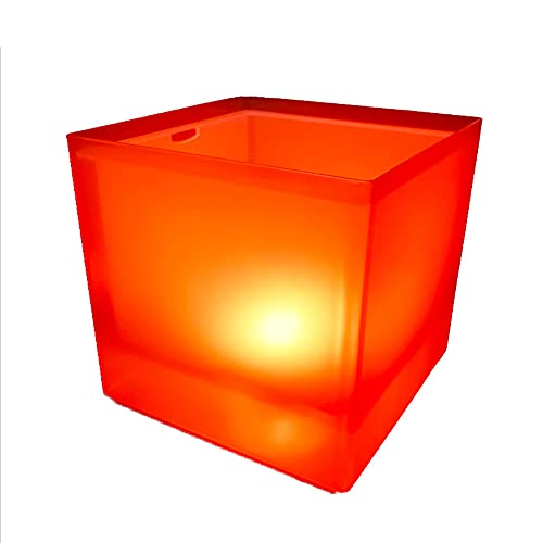 Cubo de hielo LED, enfriador de botella de gran capacidad de 3,5 l, enfriador de champán, enfriador de vino, enfriador de bebidas, LED impermeable con cambio de color, para fiestas, hogar, bar