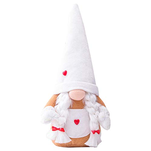 Onlyonehere Valentine's Day GNOME Lovely Decorative Faceless Doll