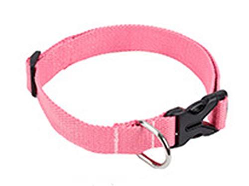 Termino Cuello de la Mascota del Confort de algodón ecológico, Collar de Hebilla de Escape Ajustable,4,M