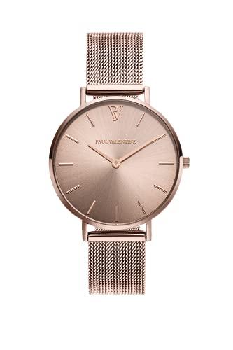 Paul Valentine Reloj de mujer de malla Champagne -...
