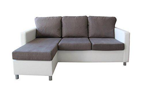 Unbekannt Divano angolare con Olimp Eck Couch Sofa Divano 3posti con sgabello tocco