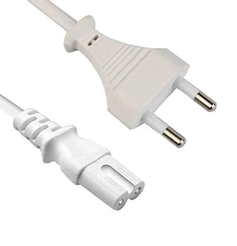 DTK 2 Piezas Cable de Alimentación Euro,2 Meters,CEE 7/16...