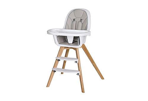 Schardt 01 050 1-242 Hochstuhl Holly mit Sitzkissen aus Kunstleder, Spielbrett abnehmbar, grau