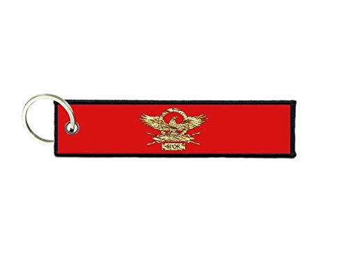 akachafactory Schlüsselanhänger Auto Moto anhänger Flagge Fahne flaggen SPQR Roma römisch